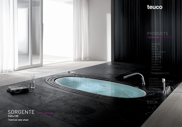 Found At Not.com, Here Is An Infinity Edged Sorgente Bathtub By Teuco:  [Link]