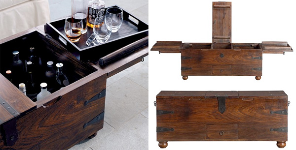 taka trunk - pirate bar/coffee table (notcot)