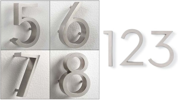 Modern House Number Roundup NOTCOT