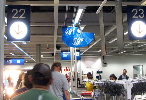 On silly discoveries i was probably far too excited about today.  IKEA. now has minis of those giant blue