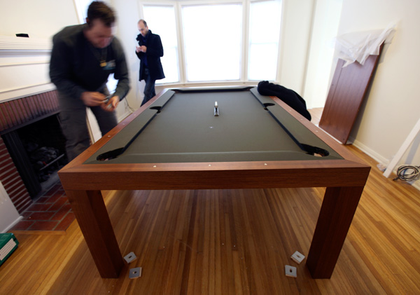 Fusion Tables The Set Up NOTCOT - Sleek pool table