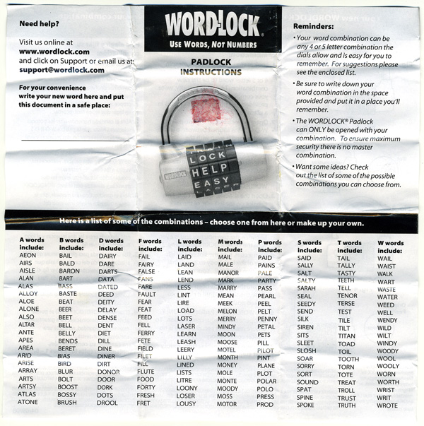 wordlock bike lock combinations bicycling and the best With 4 letter word lock