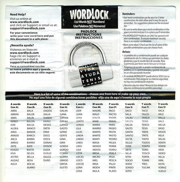 Wordlock - ,