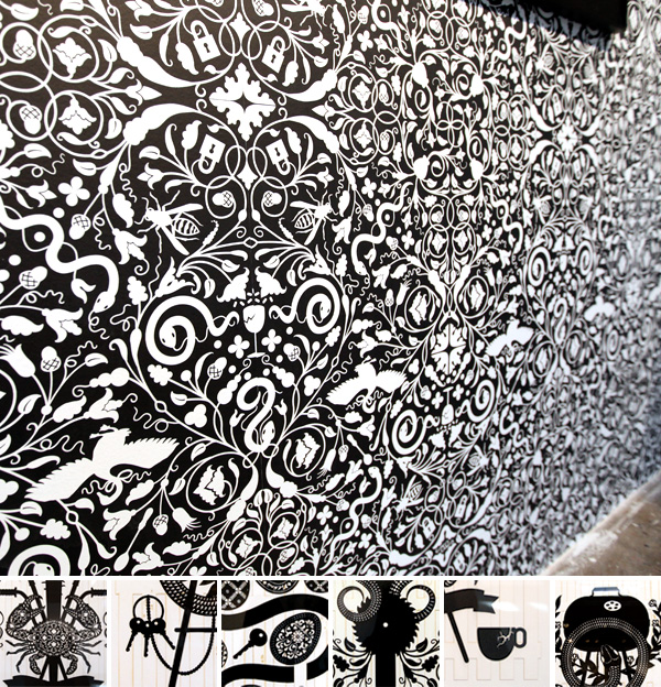 black and white patterns backgrounds. worked in lack and white