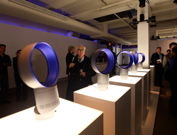 Dyson Air Multiplier Fan Launch Nyc Notcot
