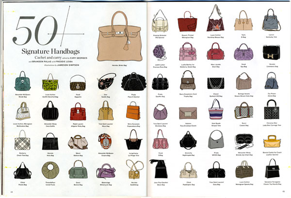 La Times Magazine 50 Signature Handbags 03 15 10