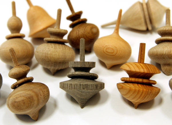 Japanese Toy Tops : Japanese wooden spinning tops notcot
