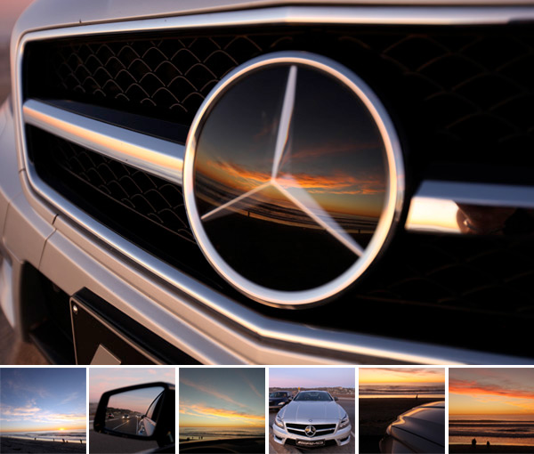 SUNSET + BEACH + CLS 63 AMG
