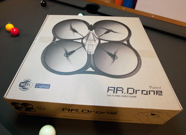 Unboxing The Parrot ARDrone NOTCOT