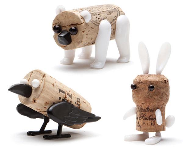 Corkers pushpin cork creatures notcot - Que faire avec des bouchons ...
