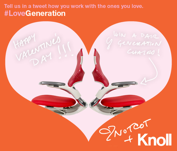 WIN A PAIR OF KNOLL GENERATION CHAIRS-