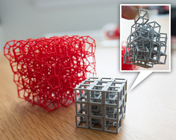 Cube Pro 3d Printer 3d Printed Interlocked Cubes