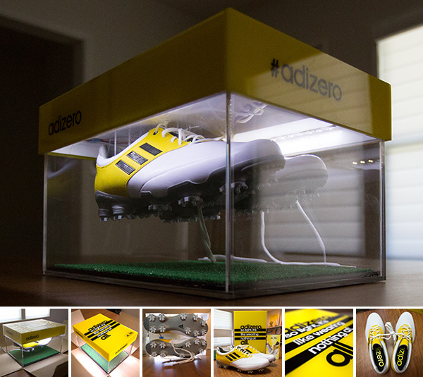 Image is loading adidas-adiZero-Tour-Golf-Shoe-Q47086-White-Yellow