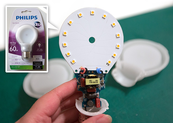 Inside Philips SlimStyle LED Bulb