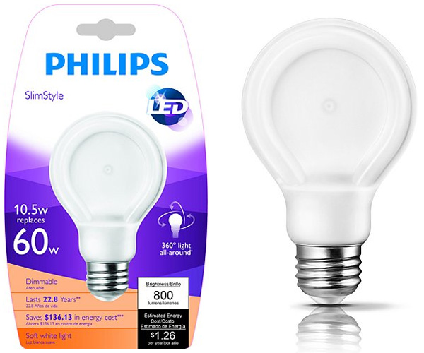 philips led bulb inside philips slimstyle led bulb notcot. Black Bedroom Furniture Sets. Home Design Ideas