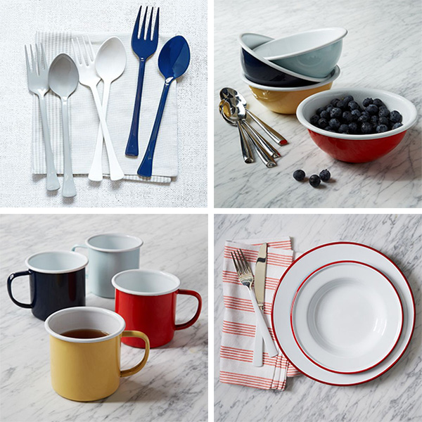 Agreed Enamelware Is Making A Comeback Right Now Even West Elm Got In On It Enamel Servers Bowls Mugs Dinnerware