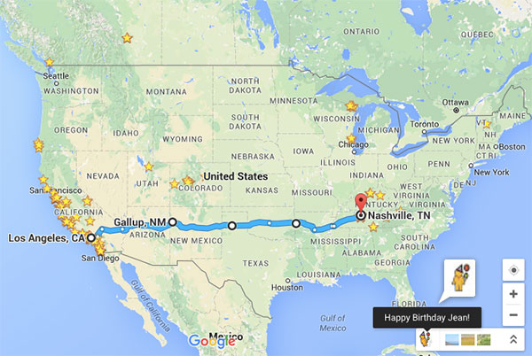 Birthday + Roadtrip Planning