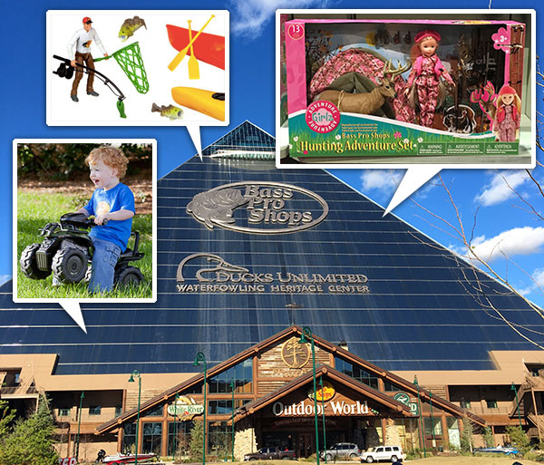 Bass Pro Toy Sets and Ride-on ATVs