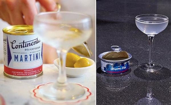 Martinis in Tins