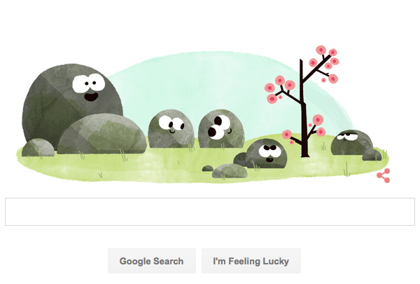 First Day of Spring Google Doodles