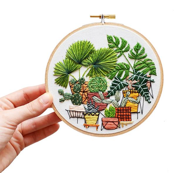 Sarah K Benning Plant Embroidery (NOTCOT