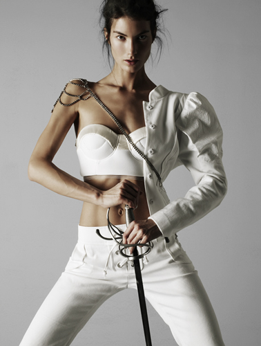 Fashion and Art :  stye design sword bustier