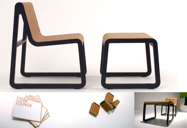 NOTCOT: Cork Lounge Chair :  cork lounge notcot chair