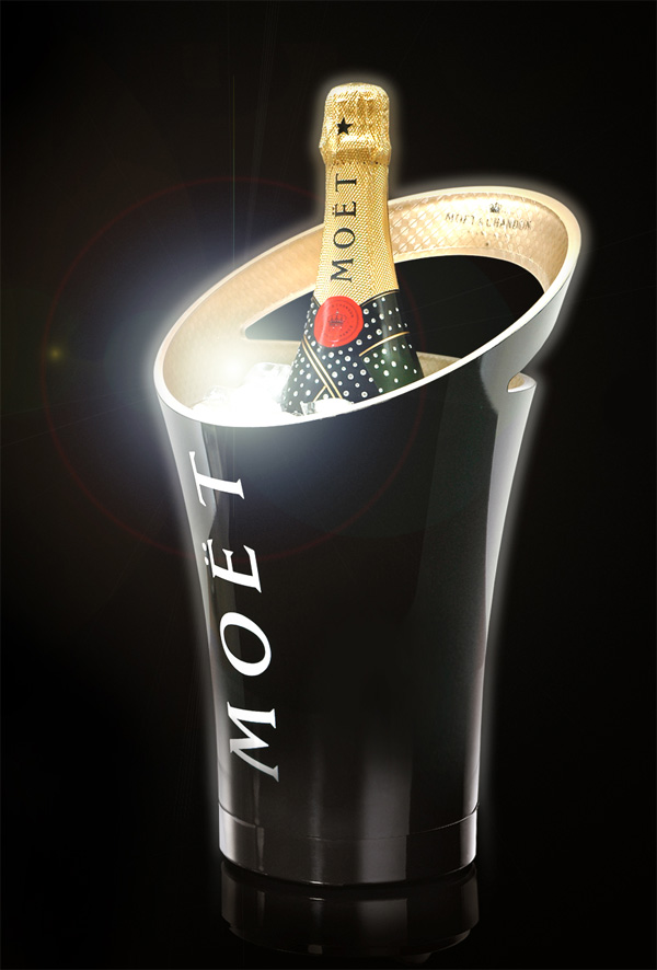 Jean marc gady for moet chandon notcot - Seau a champagne lumineux led ...