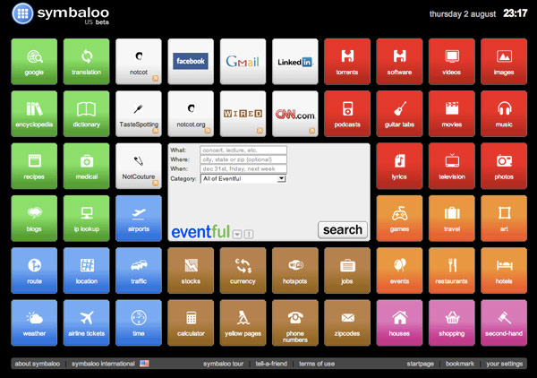 an example of someone's symbaloo