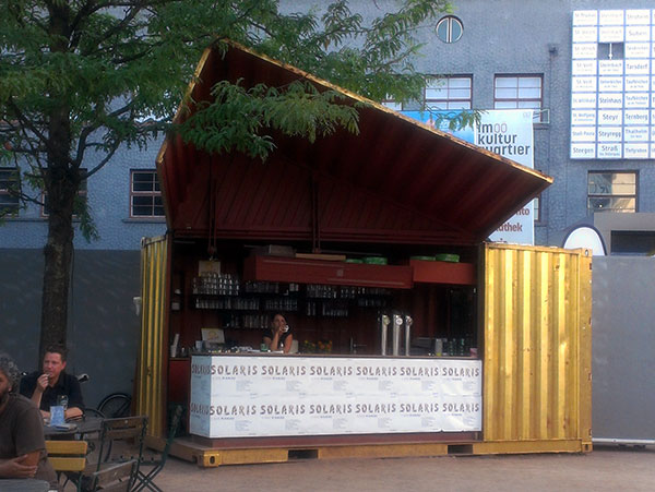 popup shipping container cafe